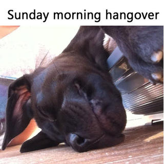 Sunday morning hangover